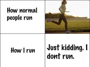 1 běhání